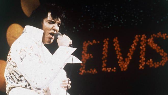 Elvis Presley performing in 1972