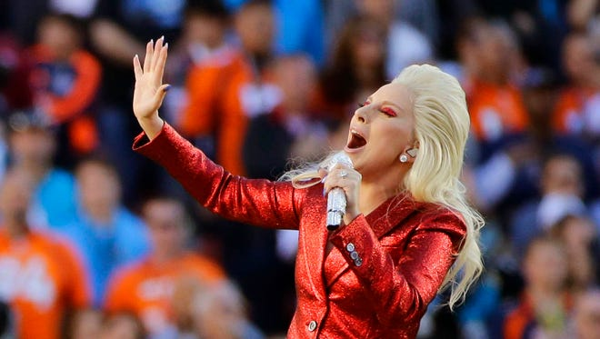 There is a rumor going around that Lady Gaga will sings the national anthem from the roof of the stadium before the NFL's Super Bowl LI football game in Santa Clara, Calif. The game is the biggest live TV event of the year.