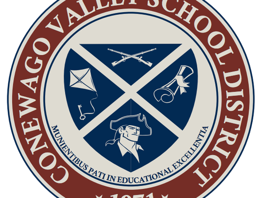 The Conewago Valley School District board of directors approved this new academic shield at Monday's meeting.