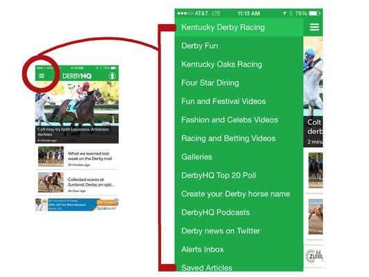 DerbyHQ App Navigation
