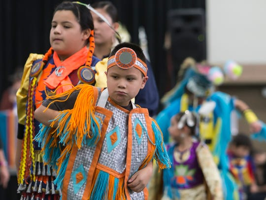 Native Americans celebrate their culture with dance and rituals with a public gathering of the 5th Annual Inter-Tribal Powwow at Albee Hall on the University of Wisconsin-Oshkosh campus.