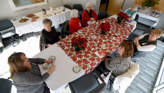 The Steel Magnolias group enjoyed a Christmas Tea Party on Tuesday at the OhioHealth Mansfield Hospital's Radiation Therapy Building.