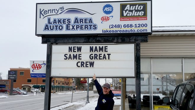 Kenny Walters, the owner of Lakers Area Auto Experts in Walled Lake.