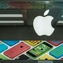 The first Apple Store in Brazil is shown to the media before its official February 2014 in a Rio de Janeiro mall.