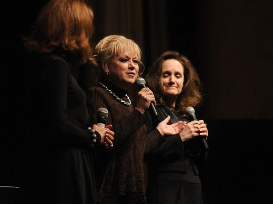 Janet Lennon, of the Lennon Sisters, talks about their experience on The Lawrence Welk Show Monday, Dec. 14, during the Town Hall lecture series at McMorran Theatre.