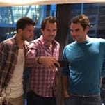 Roger Federer sings with his new 'boy band'