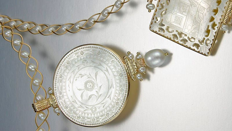 N Y  artist's precious jewelry in Smithsonian museum gift shop
