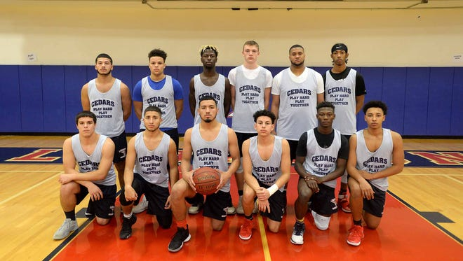 Presenting the 2017-18 Lebanon High boys basketball team, front row, from left, Josh Kauffman, Jessy Martinez, Luis Aquino-Rios, Carlos Rivera, Jahlil Young, Scottie Porter. Back row, Leighton Rivera, James Apple, Jeremiah Beckley, Sam Heagy, Felix Kortright, Sincere Scott.