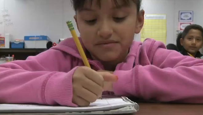 The number of English-language learners in Arizona schools fell from about 170,000 when the structured immersion program started in 2008 to just over 100,000 a few years later. But critics say the drop is due to a change in rules, not to any language improvement.