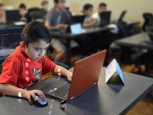 Julian Garcia concentrated  on a Minecraft Mod he created using Java. The technology camps are offered through  CreaTech Code.
