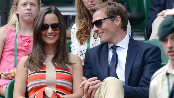 Pippa Middleton and Nico Jackson attend Wimbledon on July 5.