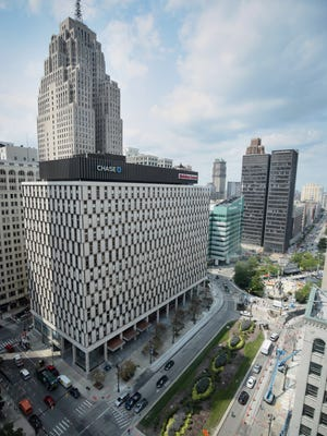 Quicken Loans occupies much of Chase Tower in downtown Detroit, also known as the Qube.