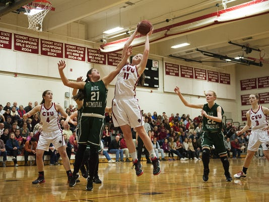 Rice vs. CVU Girls Basketball 12/14/15