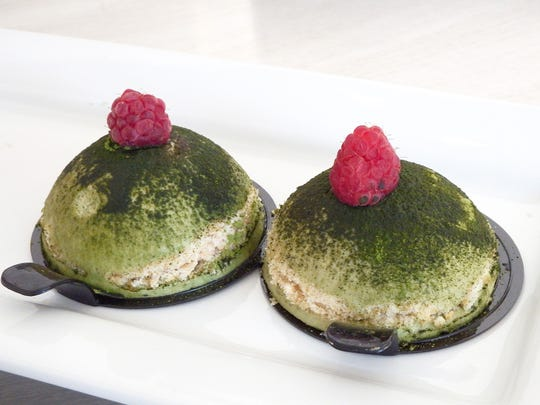 "A ""lady lily pad"" pastry at the new Cliche Patisserie"