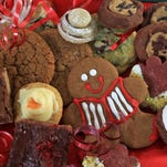 The top five cookies in The Star's Holiday Cookie Contest included (clockwise from center) Fresh Orange Cookies in first place, Gingies in third place, Vienese Tiers in second, and Snow Day Bars and Bacon Fact Gingesnaps as honorable mentions.