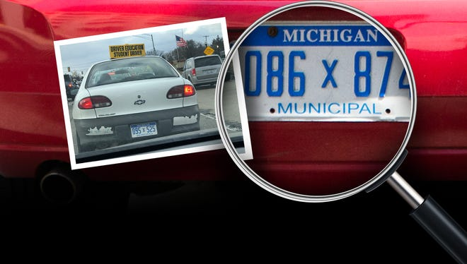 Records from the Detroit Public Schools Community District show it owns 117 license plates. However, 5 plates are assigned to two different cars.