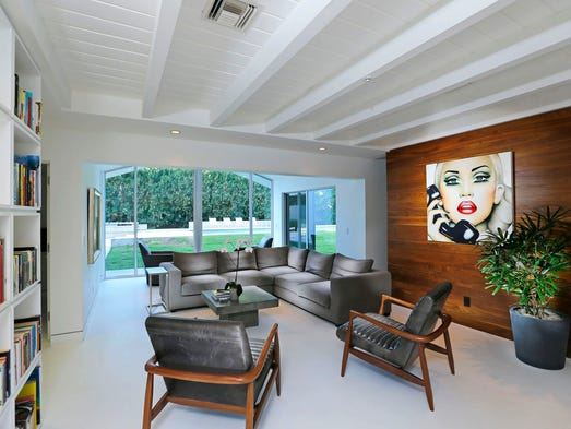Home of  Laura and Jeff Beraznik Wednesday, Aug. 20,  2014 in Phoenix,  Ariz.  The Beraznik's wanted a thoroughly modern home, but they were also passionate about honoring the character of the 1950s ranch.  They hired architect  Brent Kendle to remodel their Arcadia ranch home.