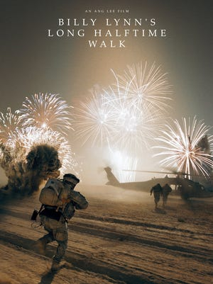 """A promotional poster for """"Billy Lynn's Long Halftime Walk."""""""