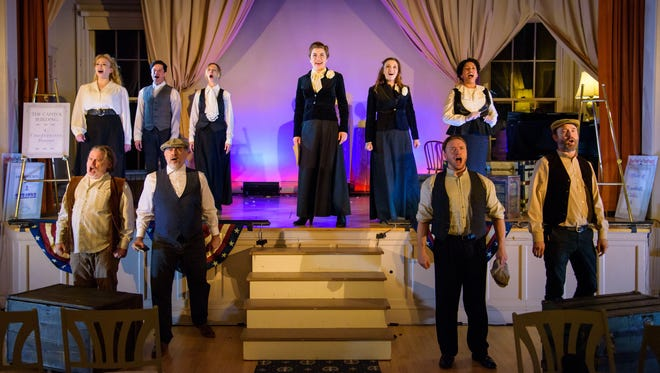 "The cast sings in Milwaukee Opera Theatre's production of ""Victory for Victoria."""