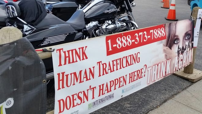Multiple organizations spread awareness about human trafficking at the Sturgis Motorcycle Rally in 2016. Organizations plan to be out again in 2017 to educate about human trafficking at the rally.