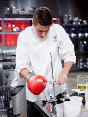 """Matthew Grunwald won the first round of """"Cutthroat Kitchen: Evilicious"""" tournament. He's headed to the finale on May 17."""