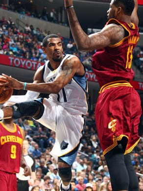March 1, 2014 -  Memphis Grizzlies guard Mike Conley