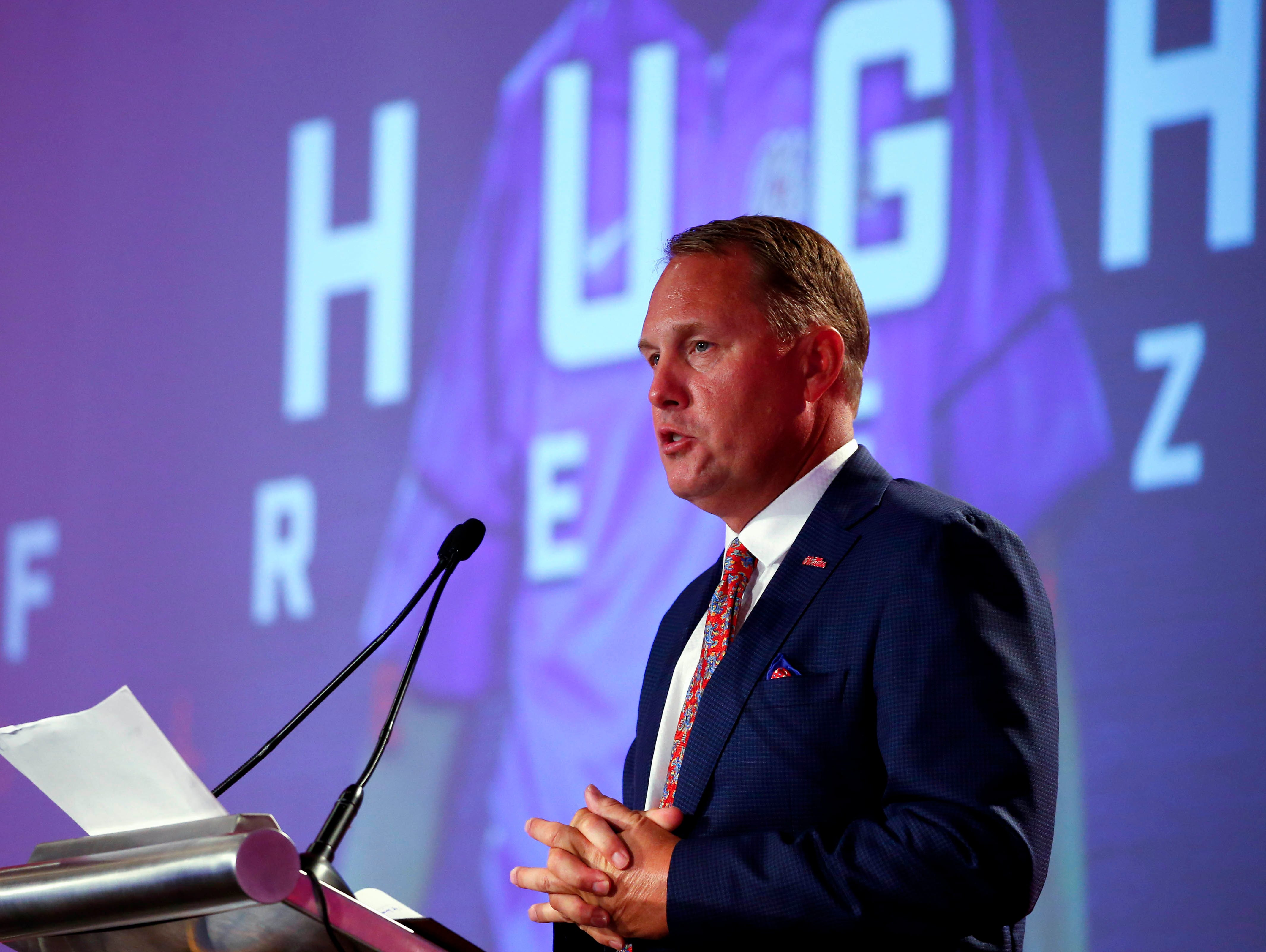 Hugh Freeze addressed the media in Hoover Thursday and admitted his program has created the drama that surrounds it.