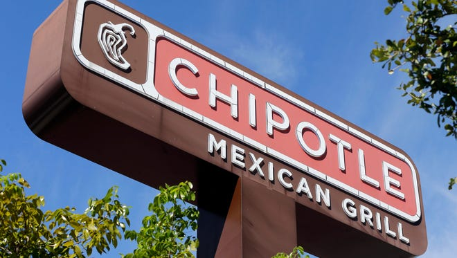 This Monday, Feb. 8, 2016, file photo shows the sign of a Chipotle restaurant in Hialeah,  Florida. (AP Photo/Alan Diaz, File)