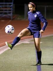 Love Tovar, a sophomore on the Del Valle soccer team