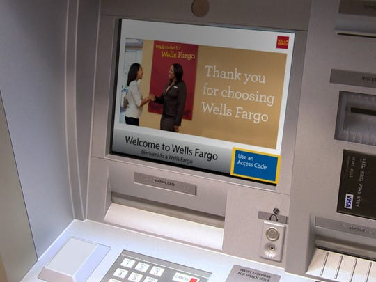 This photo shows a Wells Fargo ATM capable of dispensing