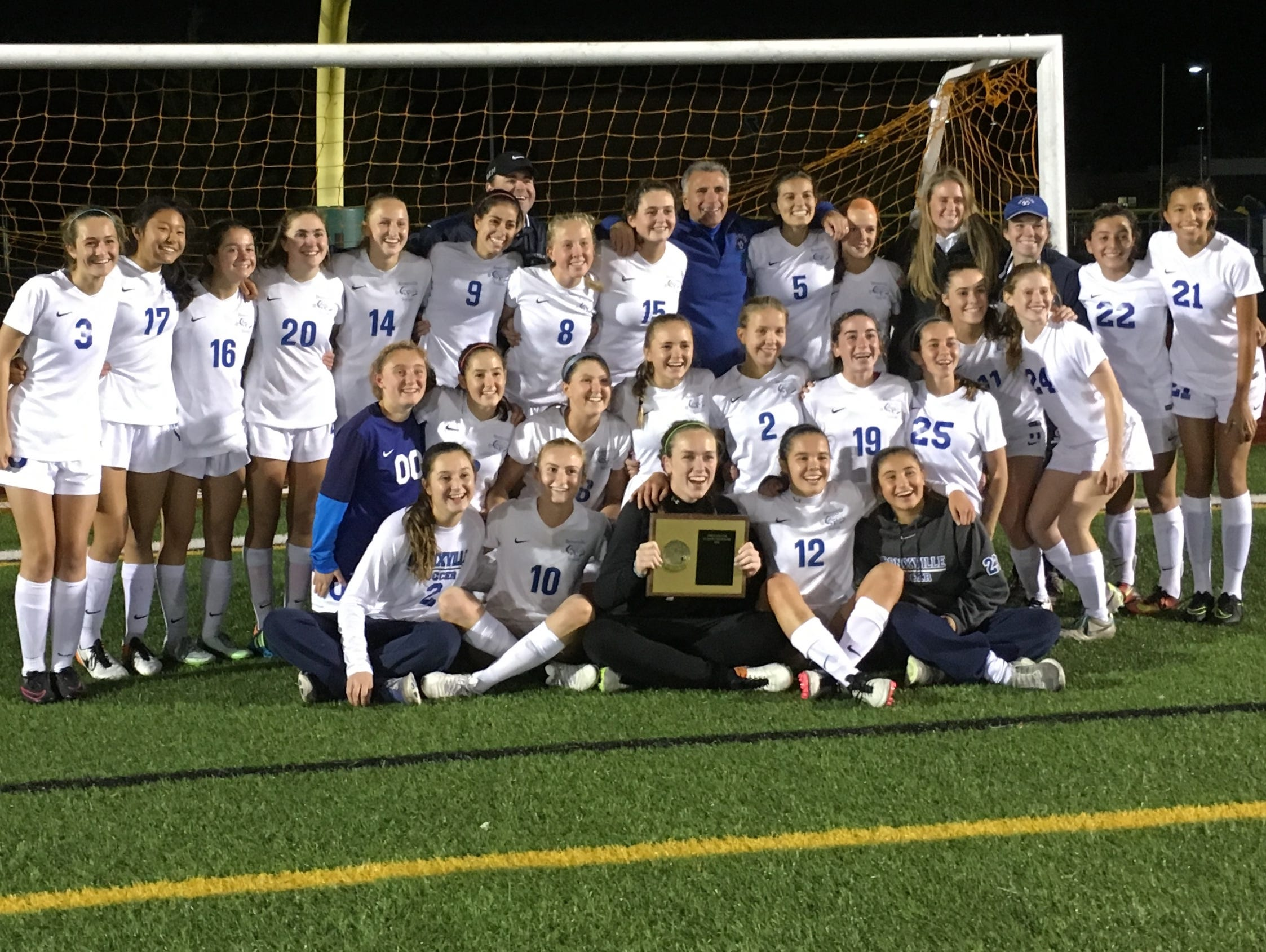 Bronxville celebrates its second Section 1 Class B Championship in three seasons on Sunday after beating Albertus Magnus 1-0 in overtime