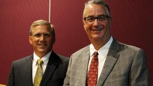 Dave Rozenboom, left, and Mark Shlanta, right, will co-chair the next Forward Sioux Falls campaign.
