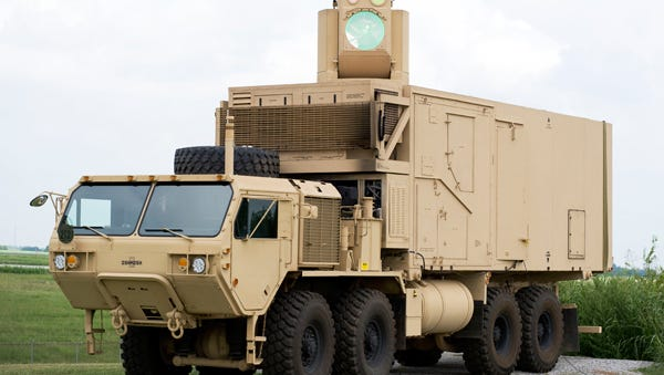 The High Energy Laser Mobile Demonstrator, or HEL MD, is the result of U.S. Army Space and Missile Defense Command research. Photo Credit: Eric Shindelbower/Army