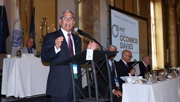 Chemung County Executive Tom Santulli was awarded the Edwin L. Crawford Award on Sept. 13 for his leadership in reforming the state's Medicaid program.