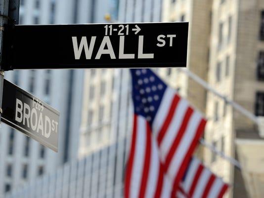 #stockphoto Wall Street sign, downtown Manhattan, New York City