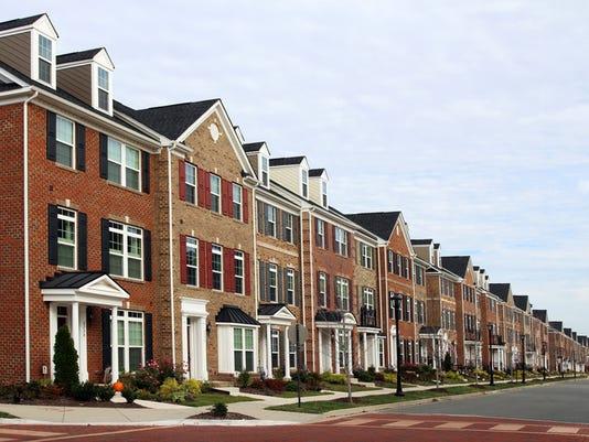 New townhouses, Virginia, USA