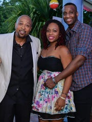 "Event Host/PAL Dancer 2017 Oswald Welsh, Designer Kallee Jackson of KalleeClassyFashions.com and Arthur Jackson at ""DRIVEN, the Ultimate Fashion & Automobile Extravaganza."""