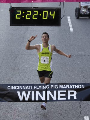 Sergio Reyes, of Palmdale, California, is looking for his fourth Flying Pig win.