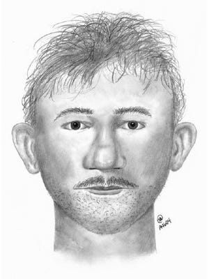 This sketch shows the face of a would-be kidnapper as remembered by the 10-year-old boy he tried to abduct outside his Buckeye home May 15, 2017.