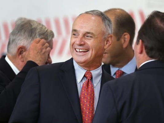 July 14, 2015. Reds, ASG, Manfred, Girls and Boys Club, Liz Dufour