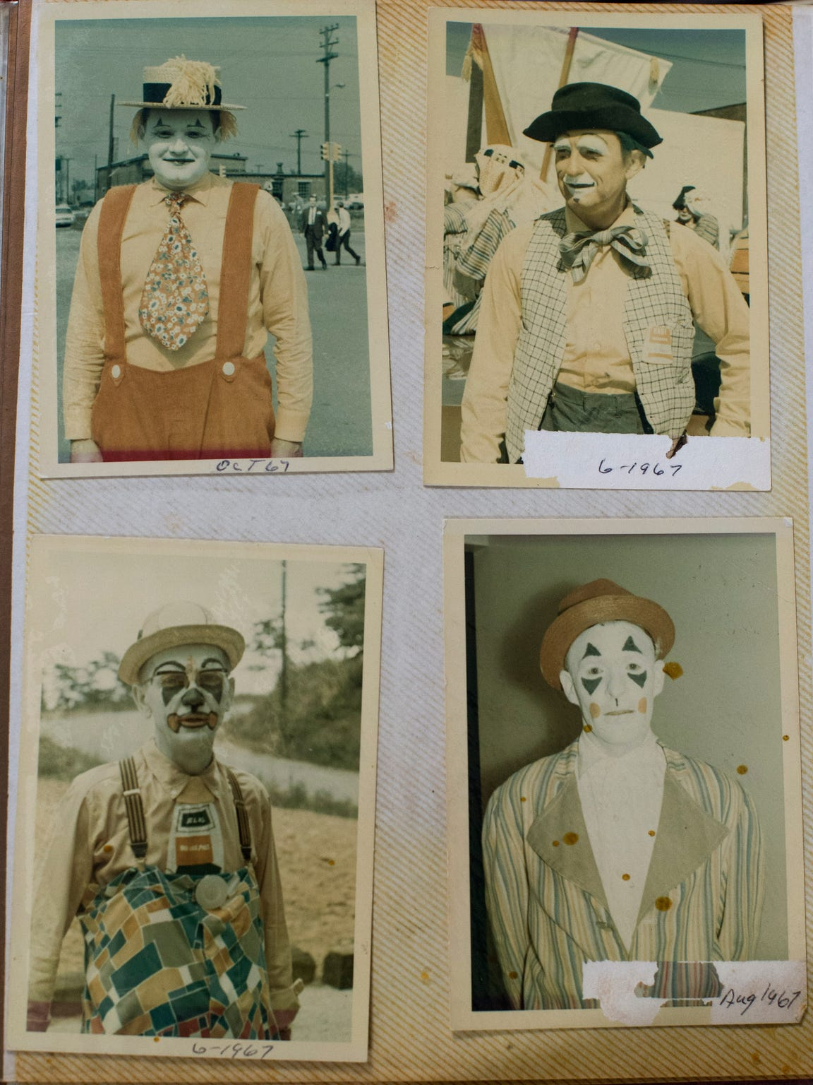 Photographs of Hadi Shrine Funsters from 1967 are seen