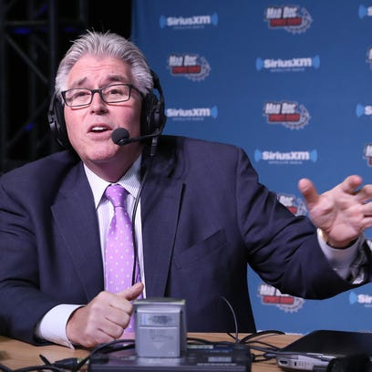 HOUSTON, TX - FEBRUARY 02:  Mike Francesa simulcasts from the SiriusXM set at Super Bowl 51 Radio Row at the George R. Brown Convention Center on February 2, 2017 in Houston, Texas.  (Photo by Cindy Ord/Getty Images for SiriusXM) ORG XMIT: 693812621 ORIG FILE ID: 633599890