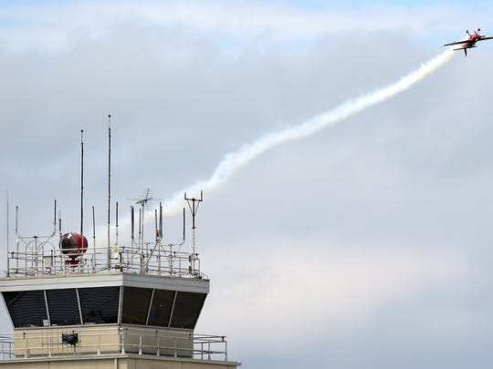 The FAA control tower at Greater Binghamton Airport.