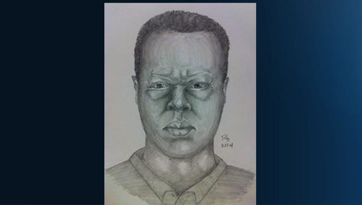 Composite police sketch of man who stabbed two older men in the area of 10th and T and U streets in Sacramento recently