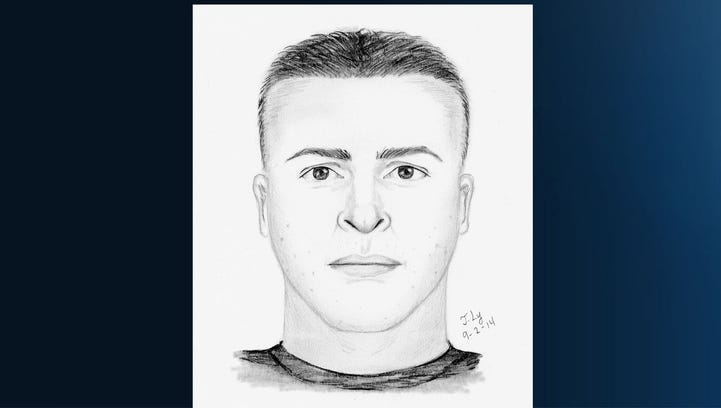 Sheriff's composite sketch of man suspected in Carmichael girl's abduction, Aug. 31, 2014.