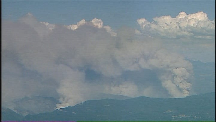 Aerial footage of King Fire