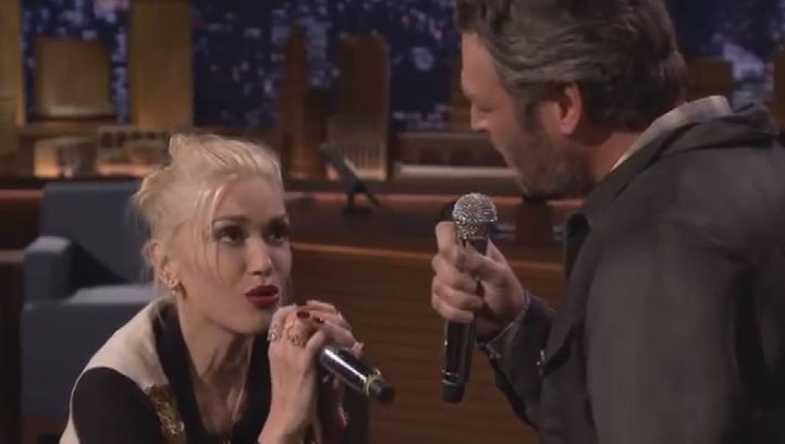 "Be sure to watch the entire video to see Stefani and Shelton's perfect lip sync duet to ""Endless Love."""