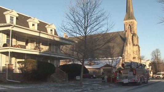 A fire in this Medina apartment building started on the third floor Jan. 5, 2015.