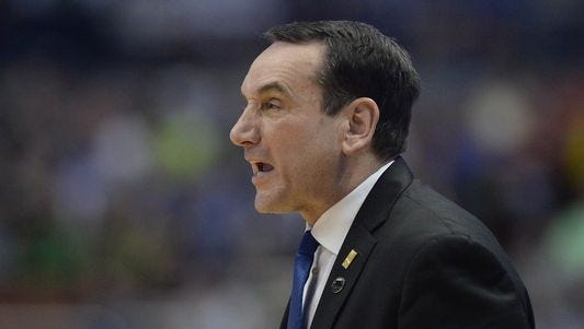 Duke's Coach K's comments to an Oregon player in the postgame handshake line have become a story this March Madness.