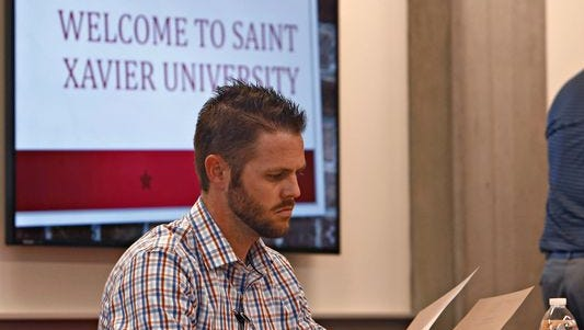 Saint Xavier University student Ryan Schulte, 31, must now decide how to continue with his MBA degree in health care administration.